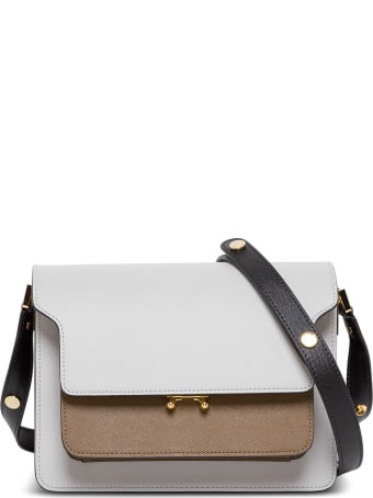 Marni Trunk Crossbody Bag In Multicolor Leather