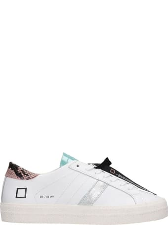 D.A.T.E. Hill Low Sneakers In White Leather