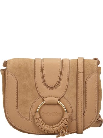 See by Chloé Hana Shoulder Bag In Brown Suede And Leather