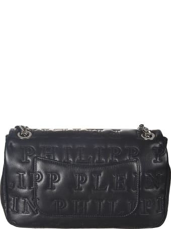 Philipp Plein Logo Quilted Embellished Skull Shoulder Bag