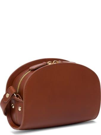 A.P.C. Sac Demi Lune Leather Crossbody Bag