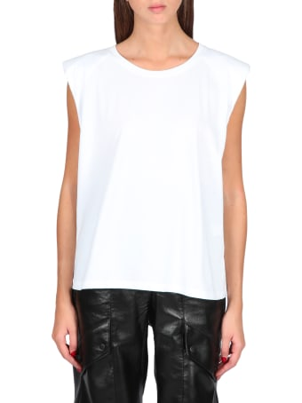 Laneus Sleeveless Tee With Shoulder Pads