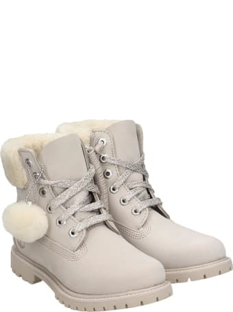Timberland 6in Prem Combat Boots In Grey Nubuck