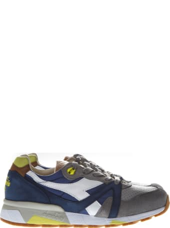 Diadora Heritage Trident 90 Nyl Blue Nylon & Suede Sneakers