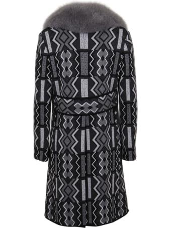Charlott Wool Coat Featuring Fox Fur Collar