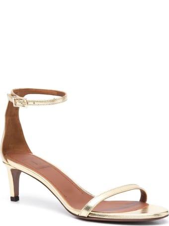 L'Autre Chose Lamé Leather Sandals