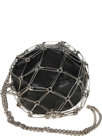 Noir Kei Ninomiya Safety Pins Round Shoulder Bag
