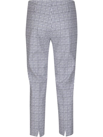 Piazza Sempione Blue And White Cotton Trousers