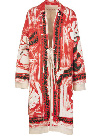 Marni Duster Coat With Ribbon Closure