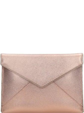 Rebecca Minkoff Leo Clutch In Rose-pink Leather
