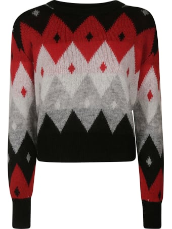 Be Blumarine Cropped Knitted Sweater