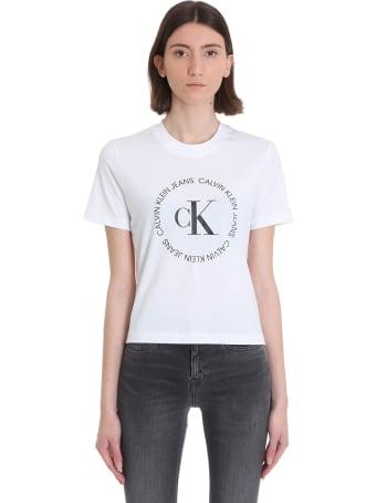 Calvin Klein Jeans T-shirt In White Cotton