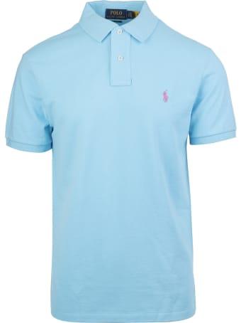 Ralph Lauren Azure Blue Embroidered Logo Polo Shirt