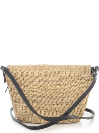 Muun Rectangular Straw Shopping Bag W/crossbody