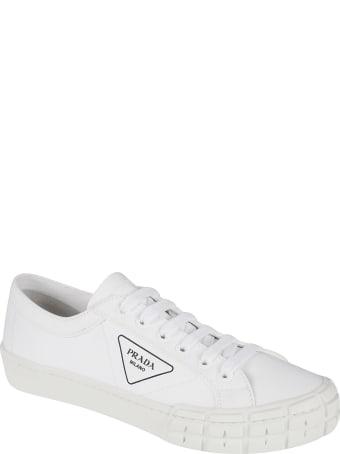 Prada Side Logo Stamped Sneakers