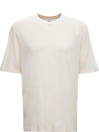 Ami Alexandre Mattiussi Cream Cotton Blend T-shirt