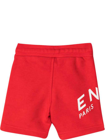 Givenchy Red Sports Shorts