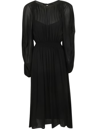 Rochas Long Length Fitted Waist Dress