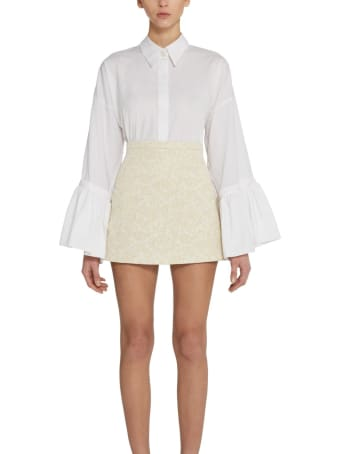 Amotea Baby Mini Skirt In Ivory Brocade