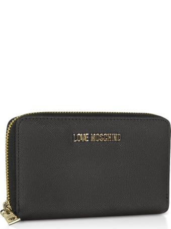 Love Moschino Saffiano Eco Leather Small Zip Around Women's Wallet