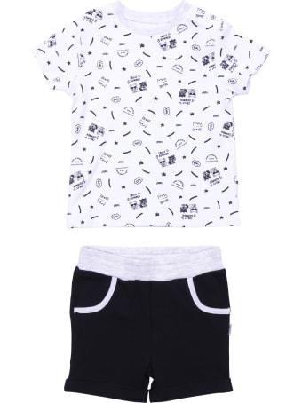 Karl Lagerfeld Black & White Cotton Suit