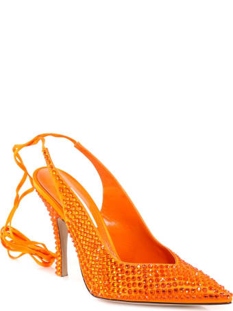 The Attico Crystal-embellished Pumps