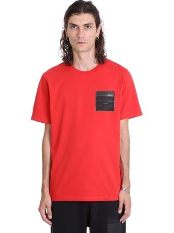 Maison Margiela T-shirt In Red Cotton
