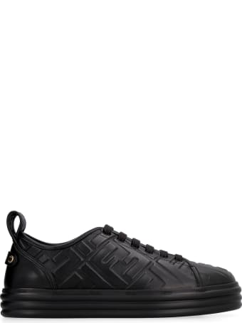 Fendi Rise Leather Platform Sneakers