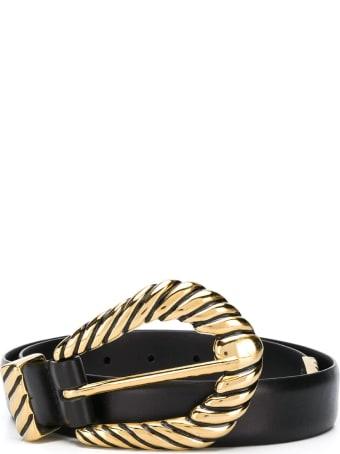 Alberta Ferretti Black Smooth Calfskin Belt