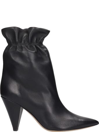 Fabio Rusconi Ankle Boots In Black Leather