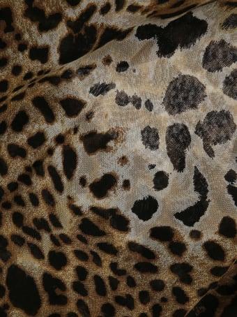 Saint Laurent Leopard Printed Scarf
