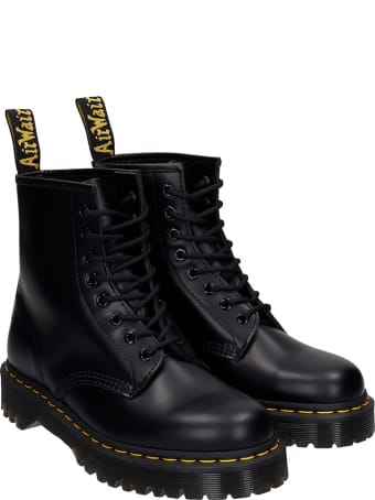 Dr. Martens 1460 Bex  Combat Boots In Black Leather