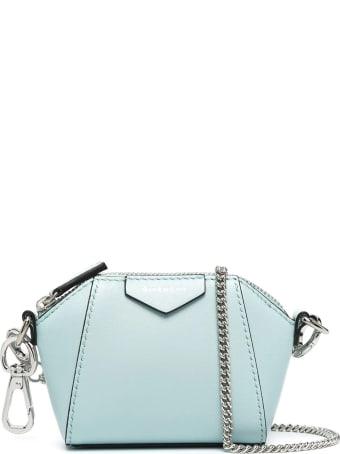 Givenchy Light Blue Baby Antigona Bag With Chain