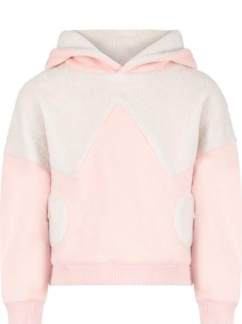 Owa Yurika Pink ''hiyori'' Sweatshirt For Girl