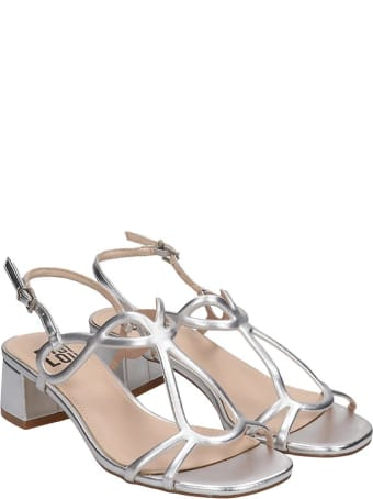 Bibi Lou Sandals In Silver Leather