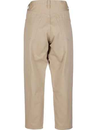 Ma'ry'ya Beige Cotton Chino Trousers