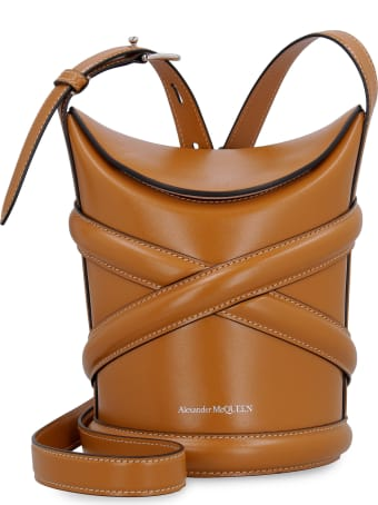 Alexander McQueen The Curve Leather Bucket Bag