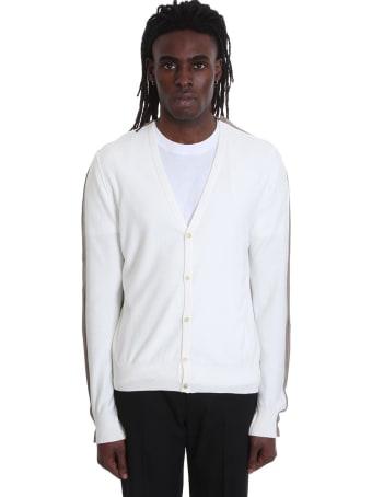 Maison Margiela Cardigan In White Wool