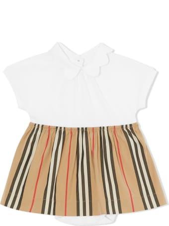 Burberry Janine Cotton Icon Stripes Dress