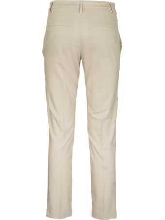 Brunello Cucinelli Twisted Stretch Cotton Twill Boy Fit Cigarette Trousers