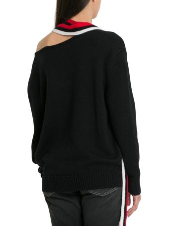 MONSE Striped Dropped-shoulder Knit Wool Sweater