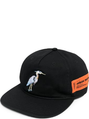 HERON PRESTON Cotton Cap With Front Embroidery
