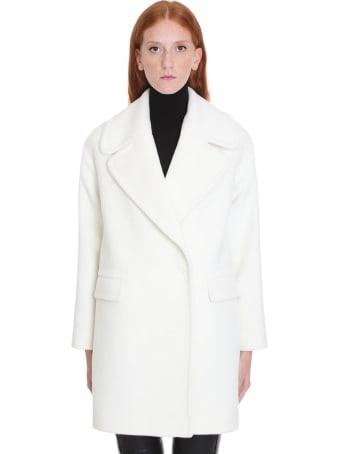 Tagliatore 0205 Astrid  Coat In White Wool