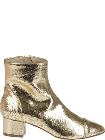 Polly Plume Sienna Gold Ankle Boot