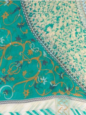 Etro Turquoise Green Silk Scarf
