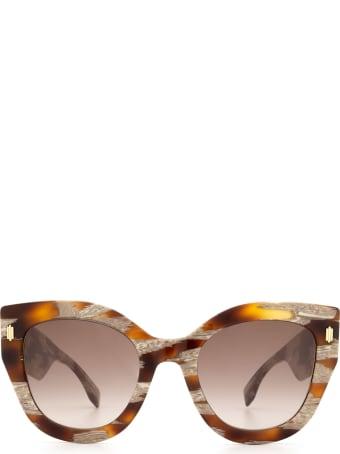 Fendi Fendi Ff 0435/s Havana Sunglasses