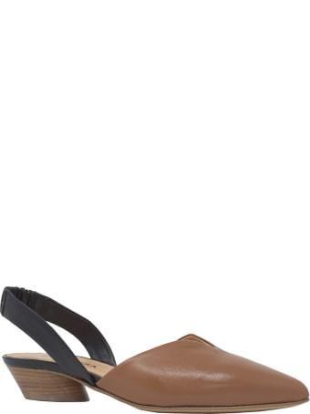 Halmanera And Black Leather Sandals