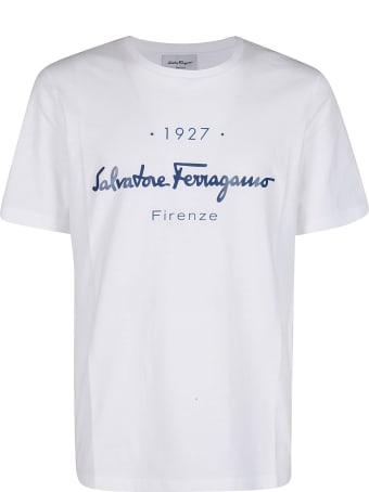 Salvatore Ferragamo White Cotton T-shirt