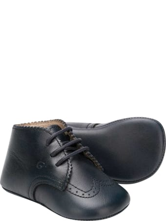 Gallucci Blue Shoes Kids With Laces