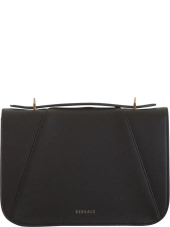 Versace Black Virtus Shoulder Bag